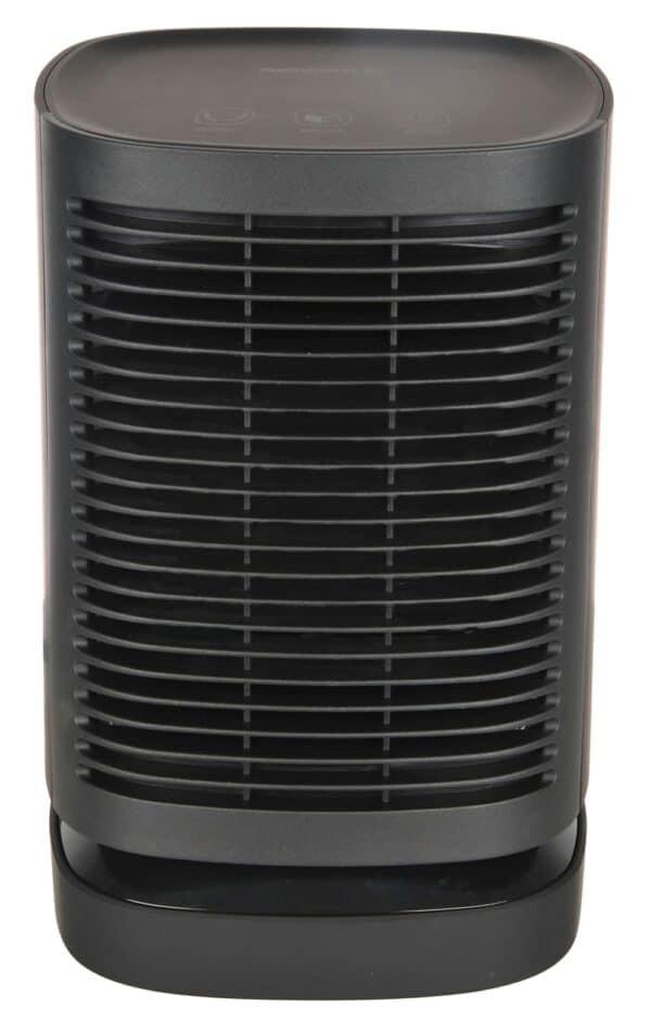 dm mini heater black front