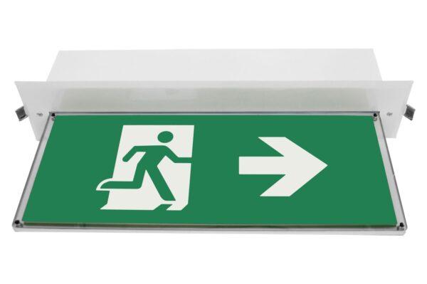 senso exit 0301 b notausgangsbeleuchtung led piktogramm rechts