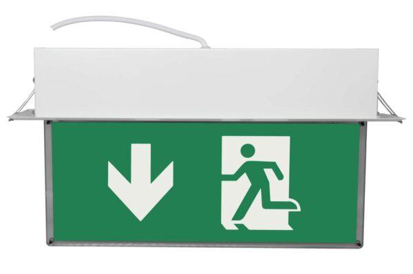 senso exit 0301 b notausgangsbeleuchtung led piktogramm runter