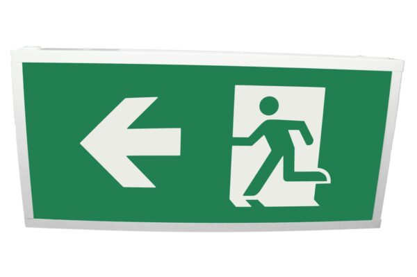 senso exit 0303 notausgangsbeleuchtung led ip40 piktogramm links