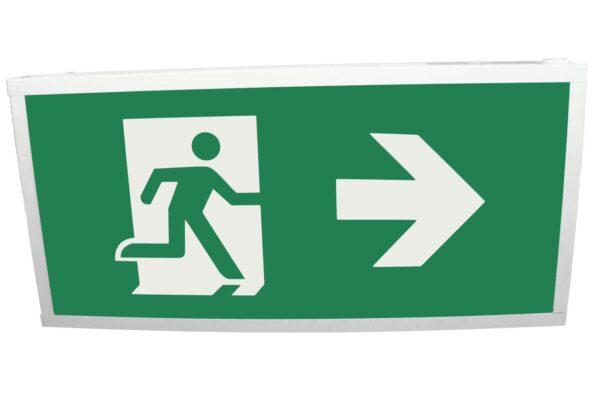 senso exit 0303 notausgangsbeleuchtung led ip40 piktogramm rechts