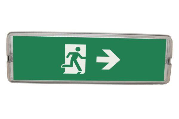 senso exit 0305 notausgangsbeleuchtung led ip65 piktogramm rechts