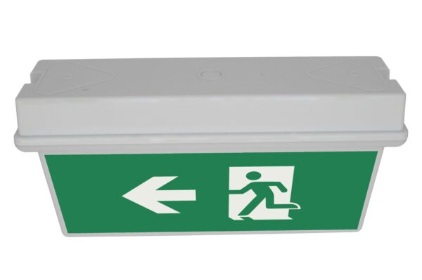senso exit 0306 notausgangsbeleuchtung led ip65 piktogramm links