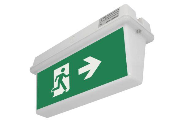 senso exit 0306 notausgangsbeleuchtung led ip65 piktogramm rechts