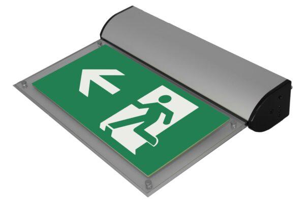 senso exit premium alu notausgangsbeleuchtung ip40 links