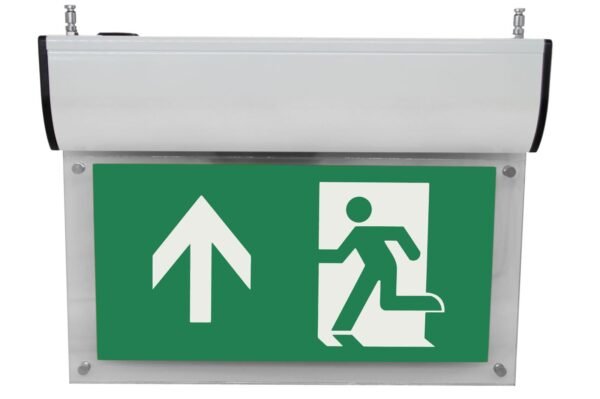 senso exit premium weiss notausgangsbeleuchtung ip40 piktogramm hoch